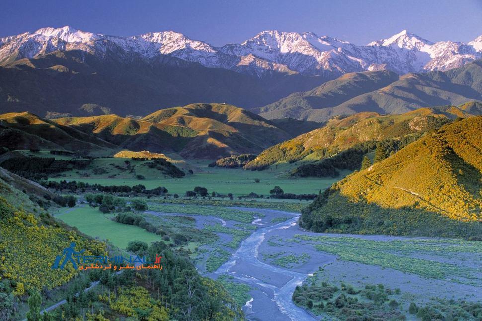 طبیعت چشم نواز نیوزیلند