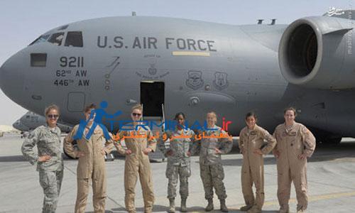 تصویری از هواپیمای زنانه ارتش آمریکا