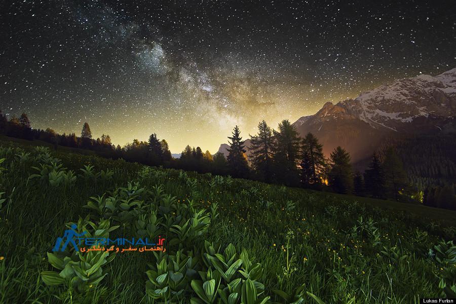 کوههای آلپ را تابهحال به این زیبایی ندیدهاید