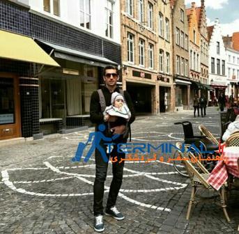 عکس هایی از اروپا گردی مجتبی جباری و فرزندش