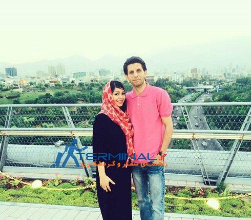 طالب لو و همسرش روی پل طبیعت تهران + عکس