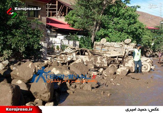 تصاویری از سیل در روستای سیجان چالوس