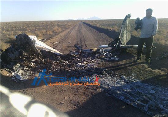 سقوط هواپیمای دونفره در استان سمنان