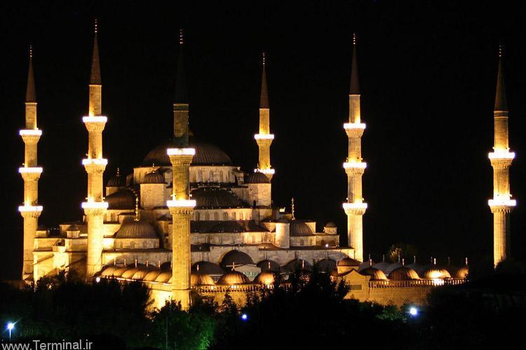 مسجد سلطان احمد شب